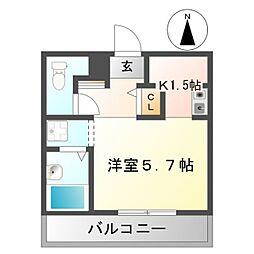 ウィステリア片倉[2階]の間取り