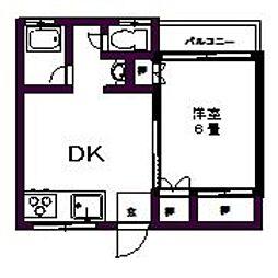 コーポ脇Ⅲ[201号室]の間取り
