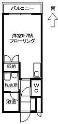 花見コーポ[205号室]の間取り