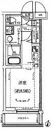 クラリッサ カワサキ 梶ヶ谷[3階]の間取り