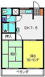 竹園ハイツ[302号室]の間取り