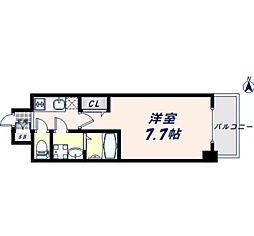 JR大阪環状線 寺田町駅 徒歩8分の賃貸マンション 9階1Kの間取り