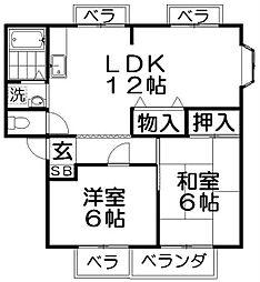 サンビレッジ高田 B棟[1階]の間取り