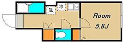 京王線 千歳烏山駅 徒歩7分の賃貸アパート 1階1Kの間取り