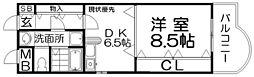 宮之阪ウェーブ[3階]の間取り