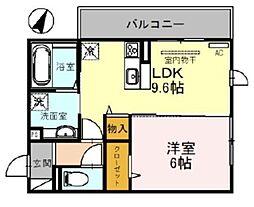 西武新宿線 南大塚駅 徒歩5分の賃貸アパート 2階1LDKの間取り