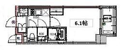 Excerosa芝公園(エクセローザ芝公園) 9階1Kの間取り
