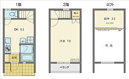 [テラスハウス] 愛知県豊田市小坂本町5丁目 の賃貸【/】の間取り