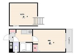 金沢マンション[3階]の間取り