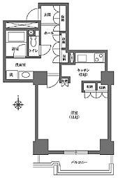 文京グリーンコート ビュータワー本駒込 5階ワンルームの間取り