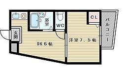 レジデンスヘルム2[3階]の間取り