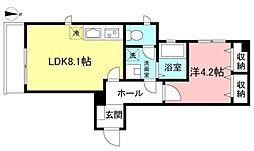 京王線 笹塚駅 徒歩7分の賃貸マンション 2階1LDKの間取り