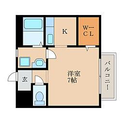 滋賀県野洲市行畑2丁目の賃貸アパートの間取り