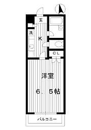 東京都練馬区貫井1丁目の賃貸マンションの間取り