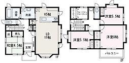 [一戸建] 埼玉県和光市新倉2丁目 の賃貸【/】の間取り