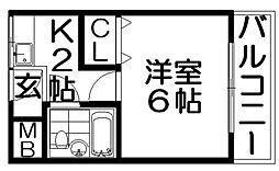 グランドハイツ3号館[1階]の間取り