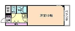 大阪府豊中市夕日丘2丁目の賃貸マンションの間取り