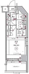 セジョリ新宿西落合 1階1Kの間取り