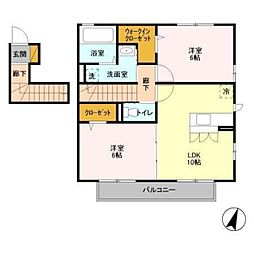 サニーモール壱番館[2階]の間取り