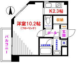 ドゥーエ武蔵小金井 4階1Kの間取り