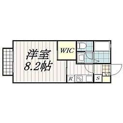 千葉県千葉市花見川区検見川町1の賃貸アパートの間取り