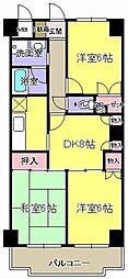 ドエルムラタ[405号室]の間取り