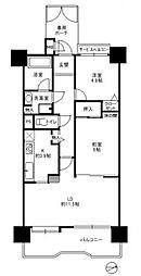 コスモ南福岡ウィングガーデン[408号室]の間取り