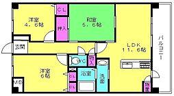 プレステージ加古川VI[411号室]の間取り