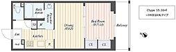 仮称)柏の葉キャンパス新築マンション計画 2階1DKの間取り