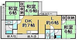 柿原アパート[2号室]の間取り