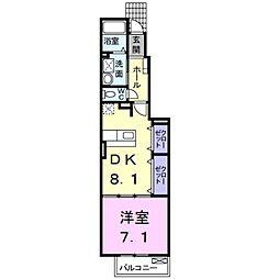 グリーンハイム KII[1階]の間取り