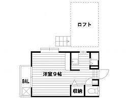 ピナクル南片江A[102号室]の間取り