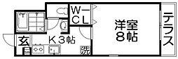 ソレーユ桜園[1階]の間取り