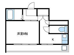 神奈川県海老名市東柏ケ谷2丁目の賃貸アパートの間取り