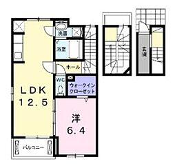 西武新宿線 狭山市駅 バス10分 狭山台南下車 徒歩3分の賃貸アパート 3階1LDKの間取り