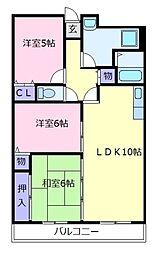 Ti45[6階]の間取り