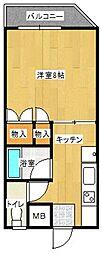 ベルエール片江[402号室]の間取り