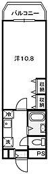 福岡県福岡市城南区鳥飼7丁目の賃貸マンションの間取り