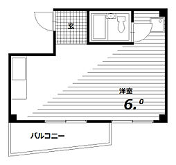 フジハイツ[2階]の間取り