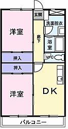 埼玉県草加市清門2丁目の賃貸マンションの間取り