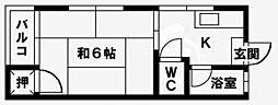 松本コーポ[202号室]の間取り