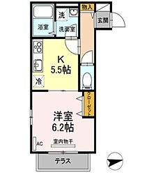 Noble Court[2階]の間取り