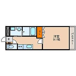 滋賀県長浜市神照町の賃貸アパートの間取り