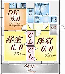 グレイスハイツ東須磨[3階]の間取り