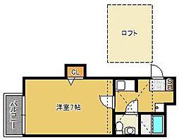 福岡県福岡市博多区吉塚1丁目の賃貸アパートの間取り