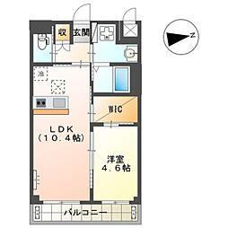 Osaka Metro御堂筋線 新金岡駅 徒歩12分の賃貸マンション 2階1LDKの間取り