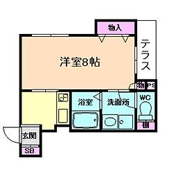(仮称)福島区野田ヘーベルメゾン[1階]の間取り