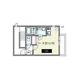 えごの木ハウス(エゴノキハウス) 1階ワンルームの間取り