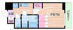 アルティザ淡路駅東 2階1Kの間取り