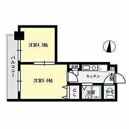 福岡県福岡市城南区長尾4丁目の賃貸マンションの間取り